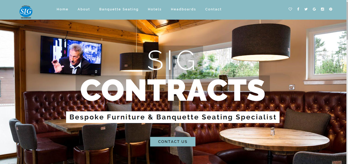 SIG Contracts, are contract furniture suppliers throughout the UK supplying high quality Contract furniture and Banquette Seating Specialists for hospitality clients